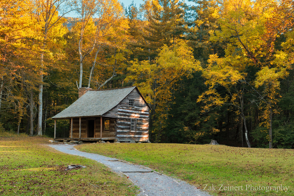 Carter Shields Cabin on the Cade's Cove loop