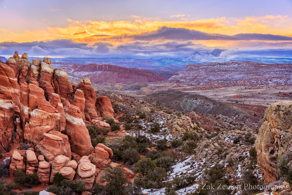 Sunrise over Arches National Park