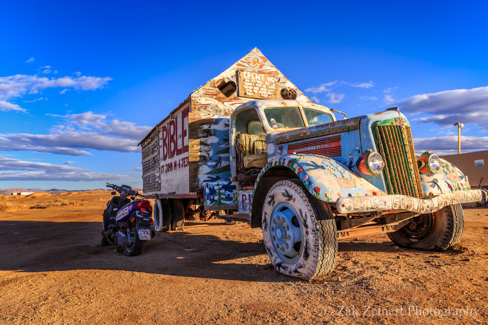 Car at Salvation Mountain