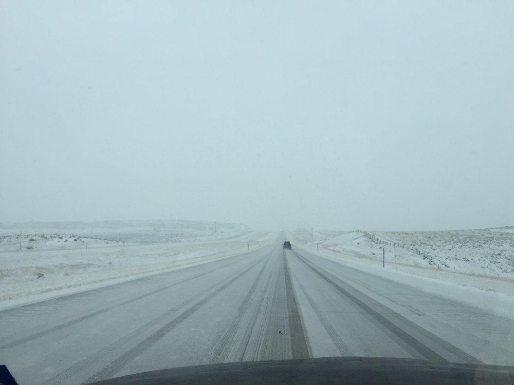 Icy roads in South Dakota
