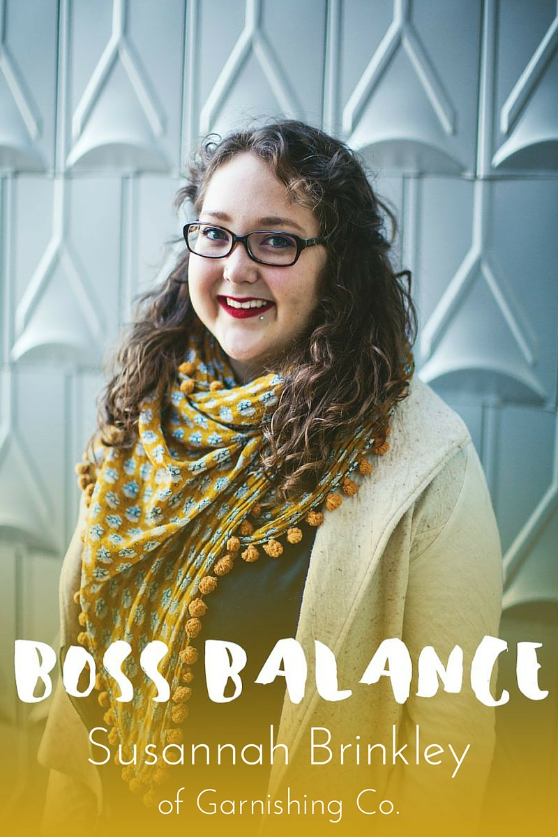 Boss Balance Q&A with Susannah Brinkley of Garnishing Co. | Beverly Bean