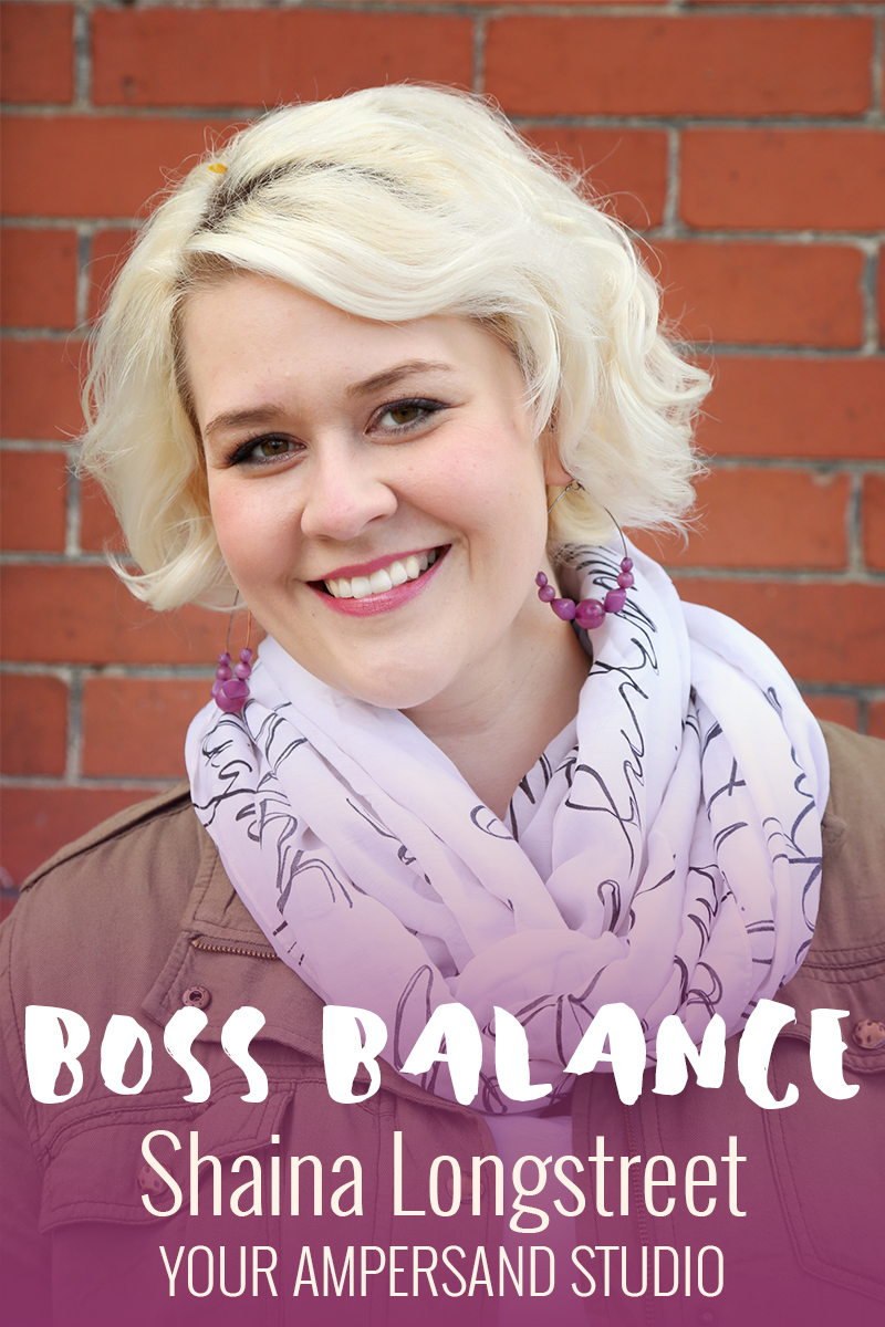 Boss Balance Q&A with Shaina Longstreet from Your Ampersand Studio. Ready her insight into work / life balance! | Beverly Bean