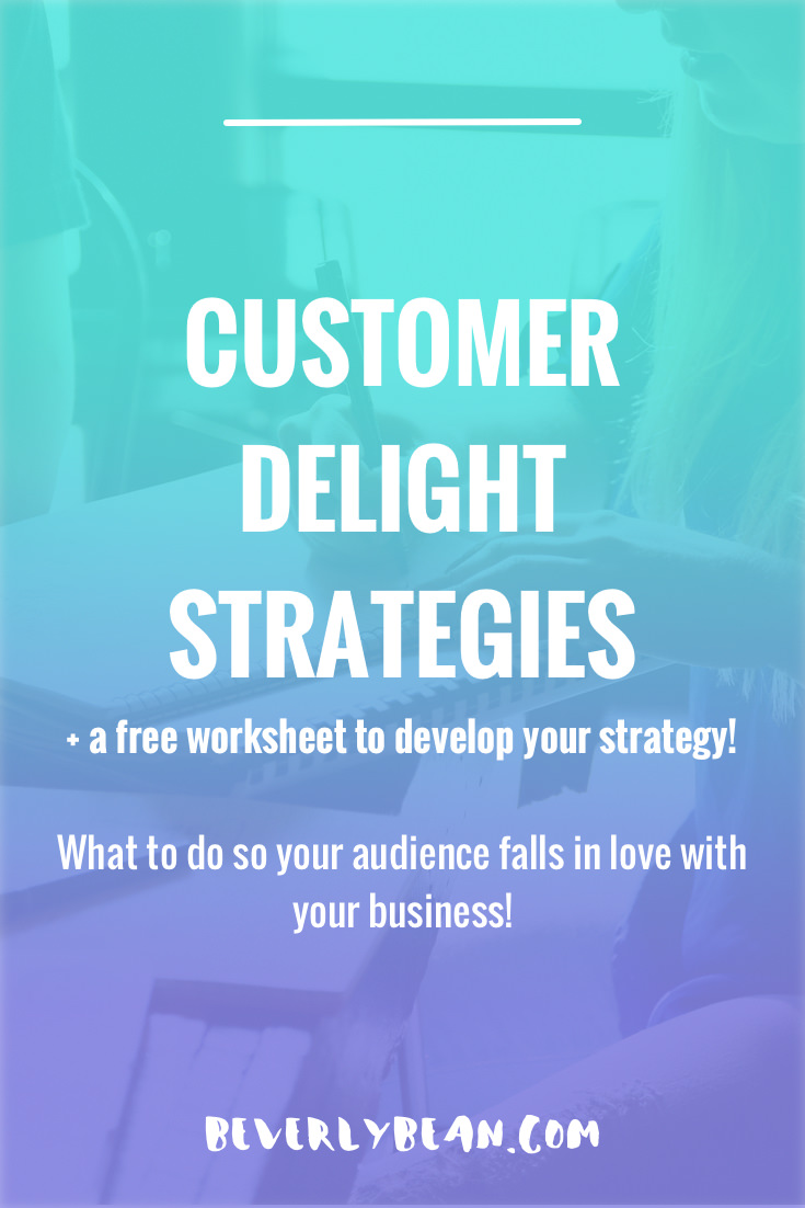 Customer Delight Strategies: What to do so your audience falls in love with your business! | Beverly Bean