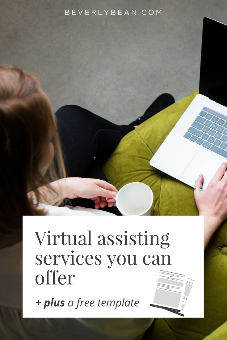 What kind of virtual assisting services can you offer for your business? Check out this HUGE list of services and grab your free services page template for your website!