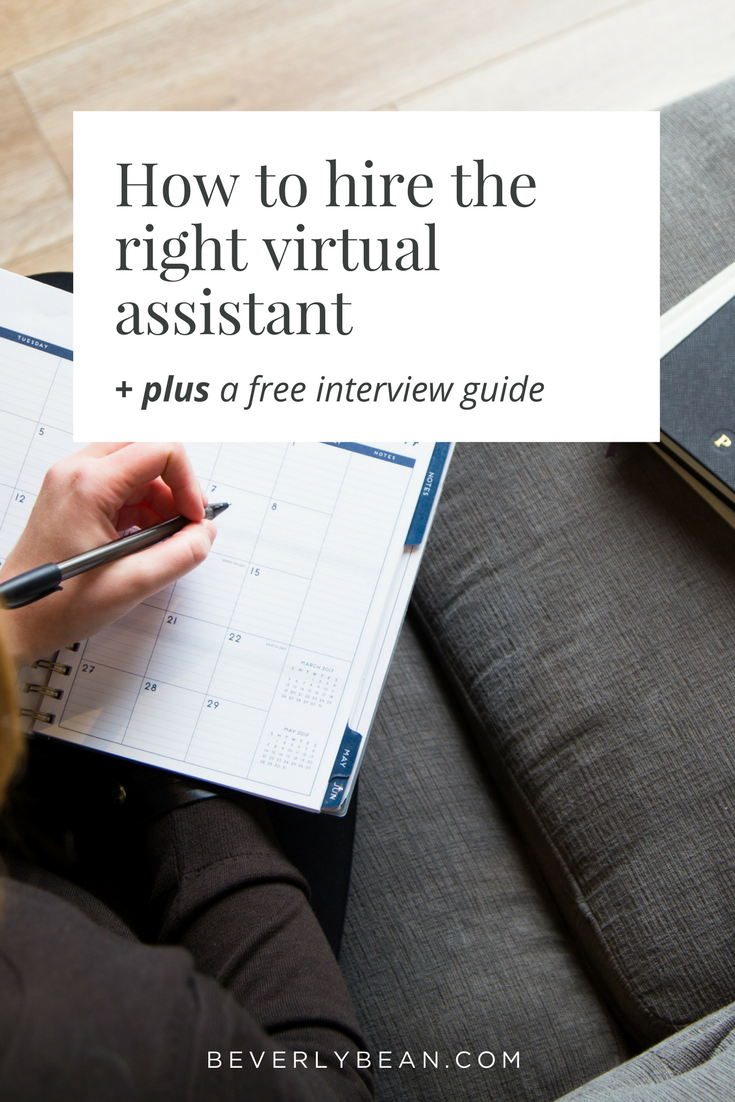 A guide to know when and how to hire a virtual assistant | Beverly Bean