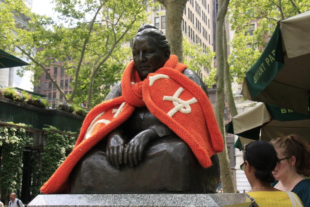 Gertrude Stein at Bryant Park