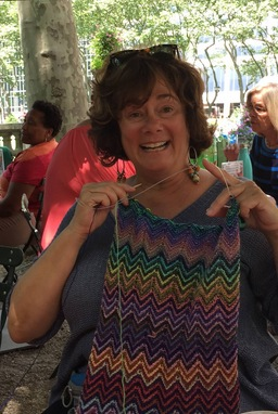 Knit during Bryant Park Knits '16