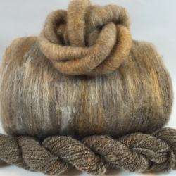 """Bunny Tummy"" BATT: a combination of exotic fibers like cashmere, qiviut, vicuna, yak, mink."