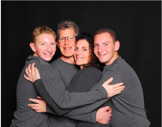 Carol Drucker, Flanked by her family!