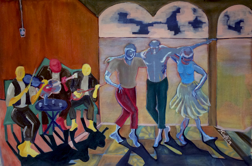 The Dance of Life   Oil on canvas,70x42 cm / 27x16.5 inches