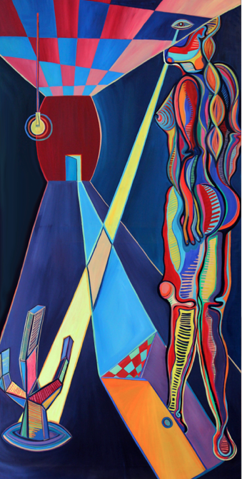 Warrior of the Heart   Oil on Canvas, 3,47m x 1,63m / 11.3x5.3 ft