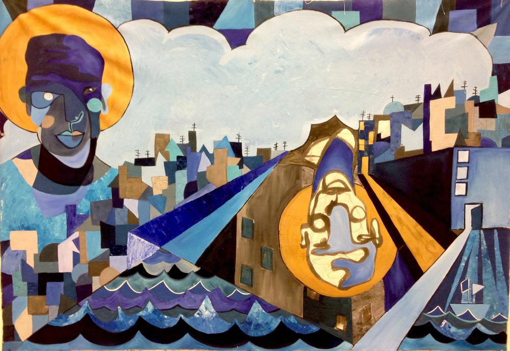 Saint Nostalgia   Oil on Canvas,1,50m x 2,34 m / 4.9x7.6 ft