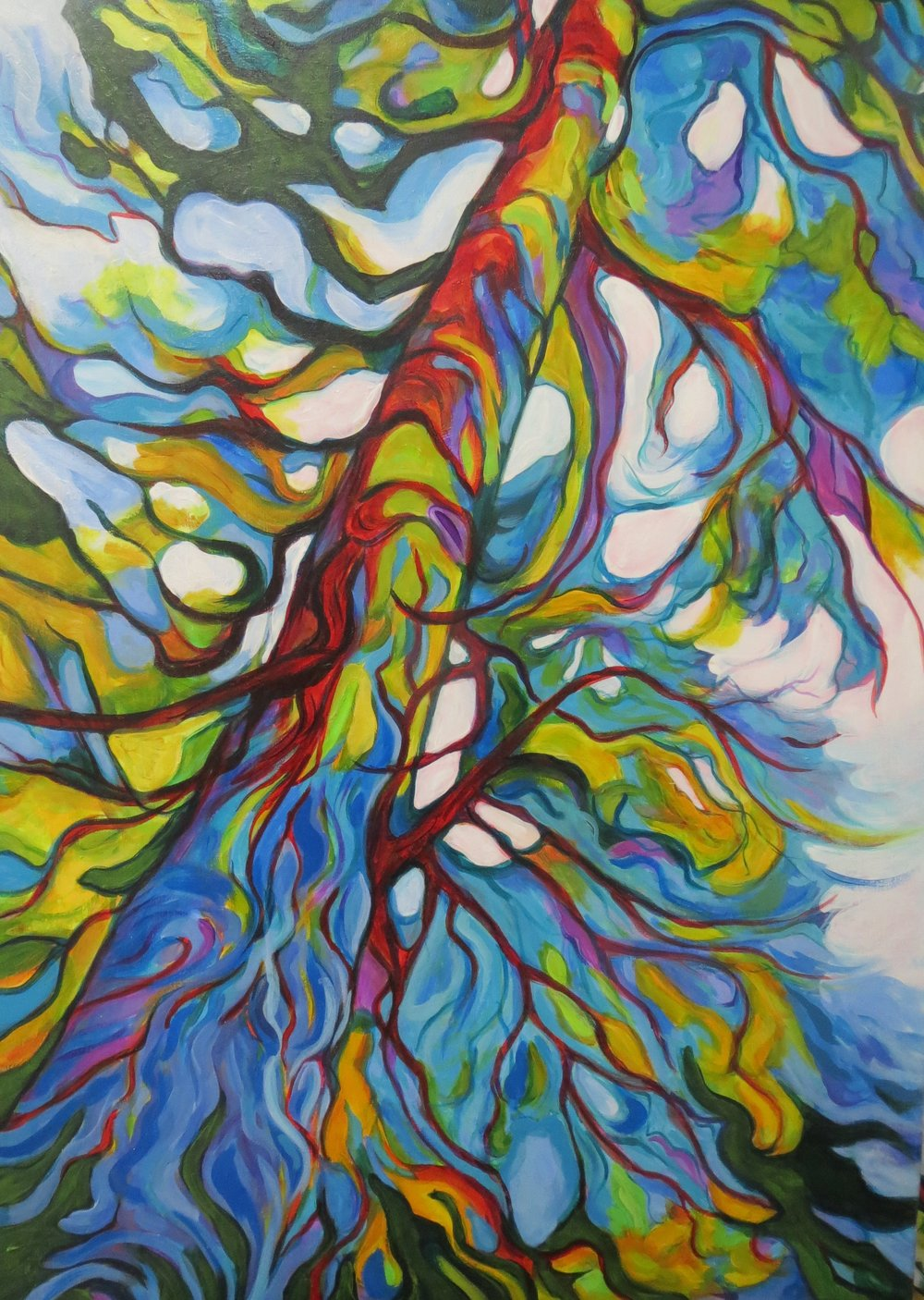COOPER Sherry _gallery_05 Otway Forest Tree 24x36 acrylic on canvas.jpg