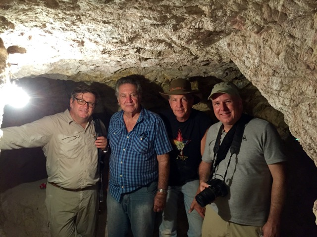 Robert Weldon, Dr. Ruy Lima, Brian Cook, Naturalis Biodiversity Center of Netherlands' Dr. Hanco Zwaan visit the Pyramid Mine.