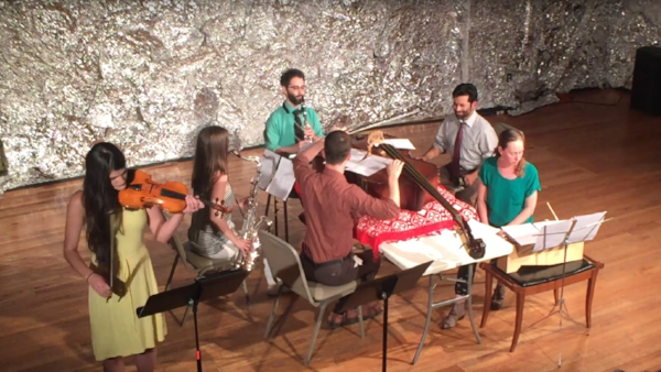 Friday May 25th   8PM   $10     Commissioned by   thingNY  , PASSOVER is a performance-ritual by Obie-winning writer/composer Rick Burkhardt for six singing/speaking performers, seated at a dinner table on which there lies a double bass. Each performer relates the story of a friend's escape: from a bad marriage, from an unfair situation at work, from a run-in with a traffic cop, from an ethically compromising opportunity, from an awkward family dinner. Ultimately, it becomes clear that all of these friends form one collective identity. Written specifically for thingNY's unique blend of chamber music, theatre and improvisation, this tabletop work explores the vocalizing instrumentalist in disjointed modes of storytelling. thingNY is Jeffrey Young (voice and violin), Dave Ruder (voice and Bb clarinet), Erin Rogers (voice and tenor sax), Paul Pinto (vocals and hand percussion), Andrew Livingston (voice and double bass), and Gelsey Bell (voice and metallophone)  http://www.thingny.com   Louna Dekker-Vargas and Ledah Finck are The   Witches  : a duo of flute, violin and vocals. They are dedicated to creating and championing contemporary music that synthesizes the particular colors and textures of flute, violin and vocals.Their work creates sonic atmospheres where beauty and ugliness, orderly and wild, can come face to face.    Nick Natalie   is a saxophonist, composer and educator based in Fairfax, VA. As a performer he has been a finalist in the MTNA Chamber Music Competition in addition to being featured with the Carnegie Mellon University Wind Ensemble and the Duquense University Wind Ensemble. His sophomore record Bitingly Right (2018), contains ten through-composed tracks featuring saxophone, piano, and percussion. It starts with minimalism and consonance while slowly moving to an aggressive, avant-garde four movement suite for prepared saxophone. The compositions were motivated by the loss of structure and learning to find peace in the midst of chaos and anxiety.  