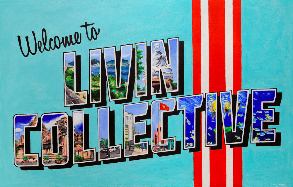 Welcome To livin Collective Mural