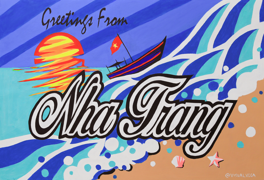 Greetings from Nha Trang Livin Collective Mural