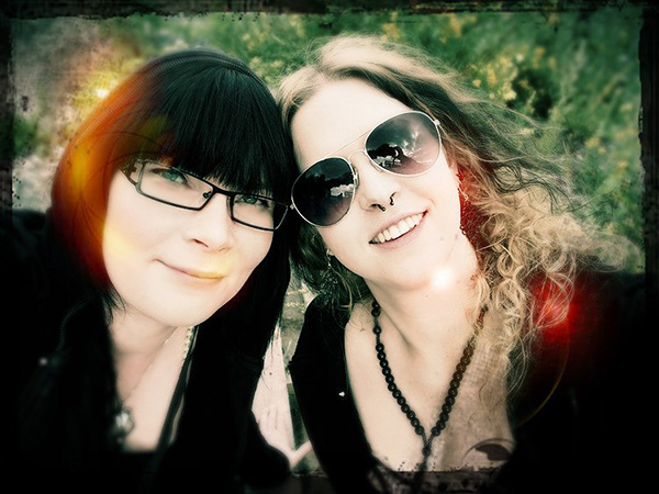 Me and Nina working for Allmetalfest.com at Jalometalli Festival 2012.