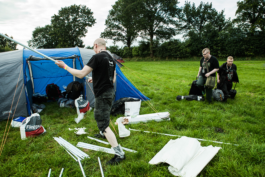 Wacken Metal Battle 2012:  Camping site in Wacken.  Photo: © Eija Mäkivuoti.