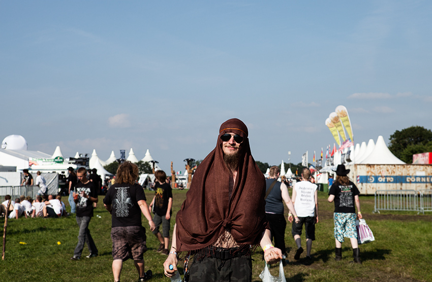 Wacken Metal Battle 2012:  On our way to the production area.    Photo: © Eija Mäkivuoti.