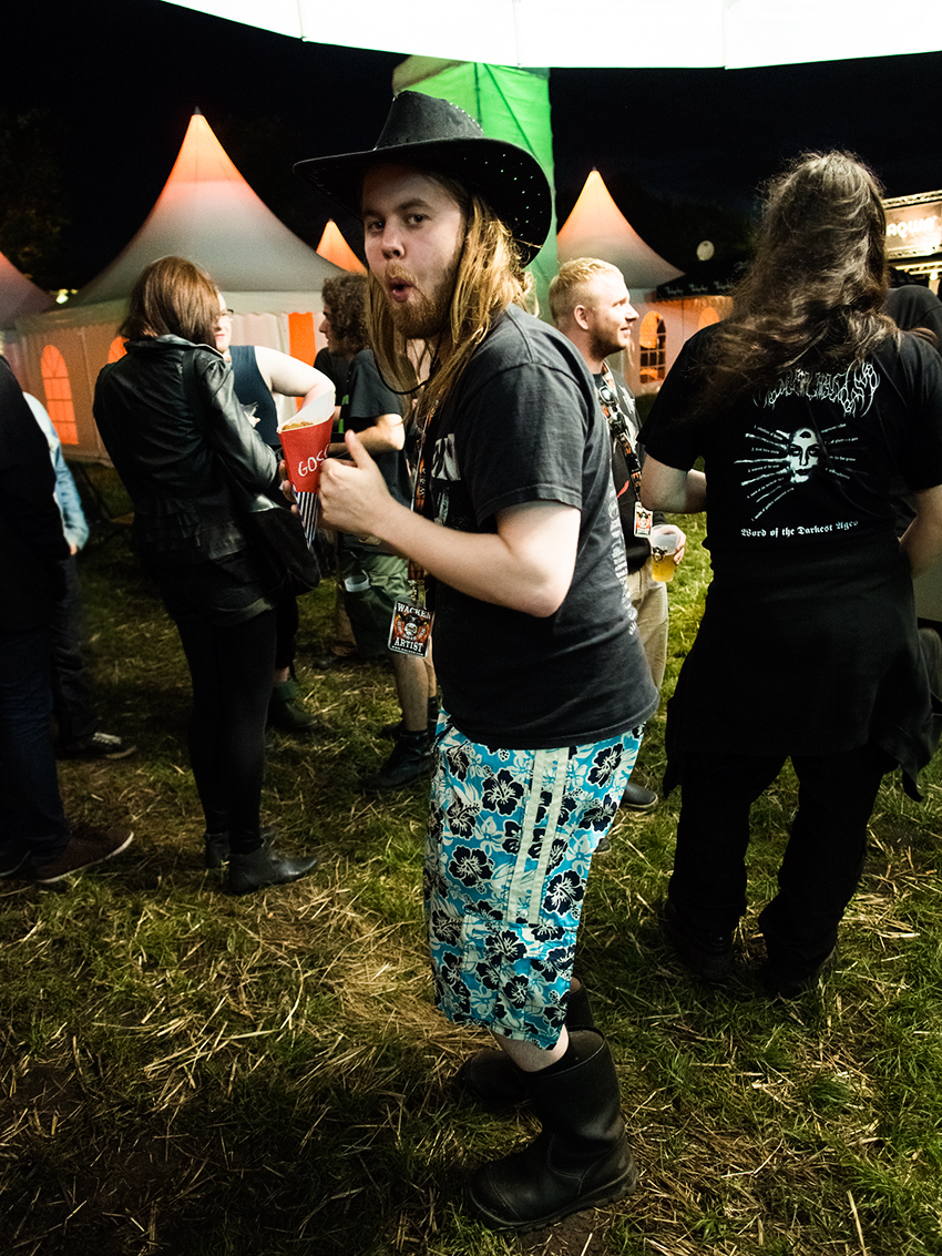 Wacken Metal Battle 2012:  Theodor after the show.    Photo: © Eija Mäkivuoti.