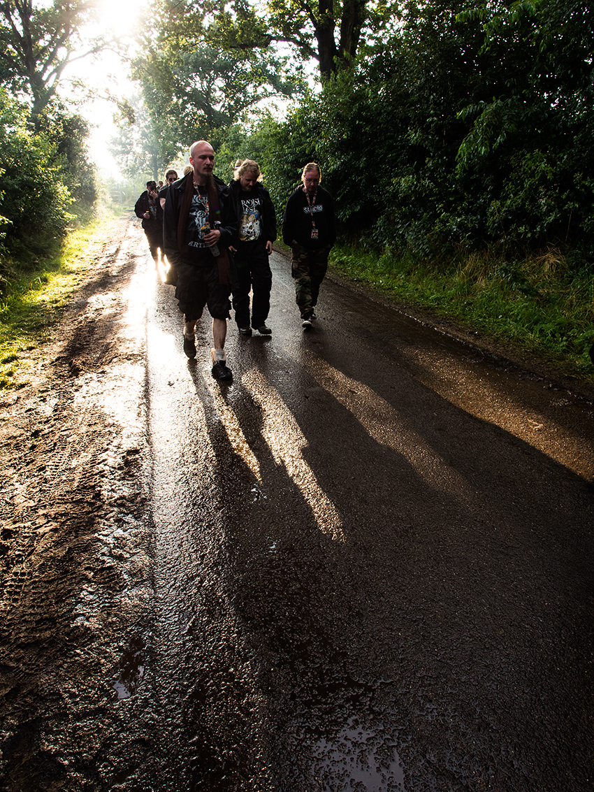 Wacken Metal Battle 2012:  On our way to the press conference.  Photo: © Eija Mäkivuoti.