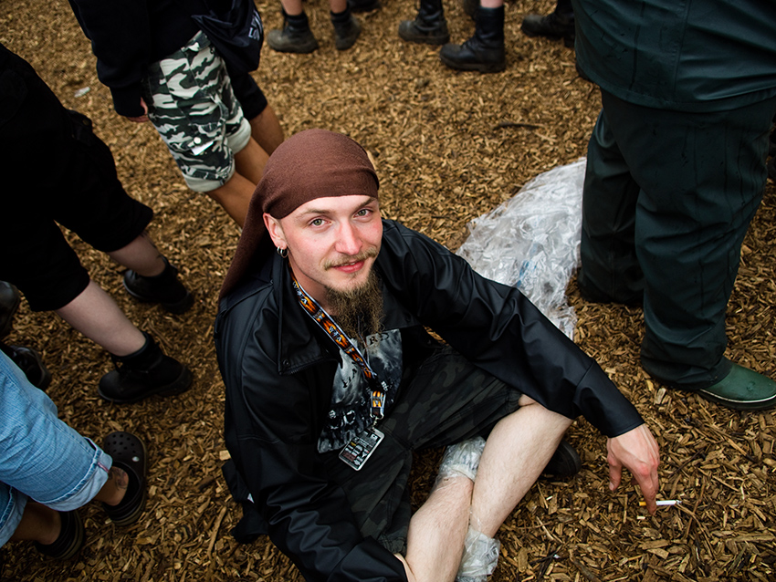 Wacken Metal Battle 2012:  Jenus enjoying the festival.  Photo: © Eija Mäkivuoti.