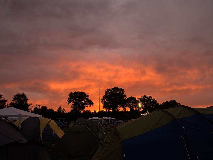 Wacken Metal Battle 2012:  Morning is coming.  Photo: © Eija Mäkivuoti.