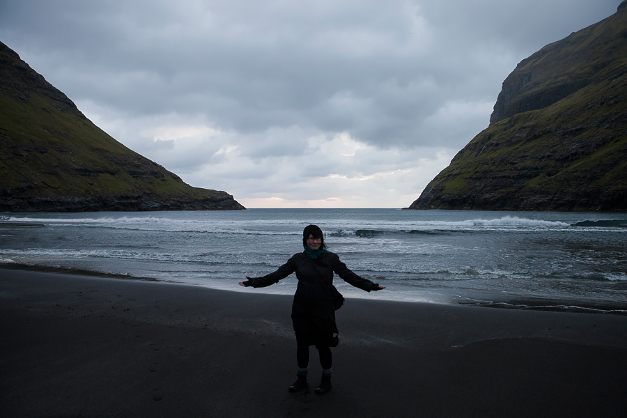 Eija in Saksun, Faroe Islands in 2011.