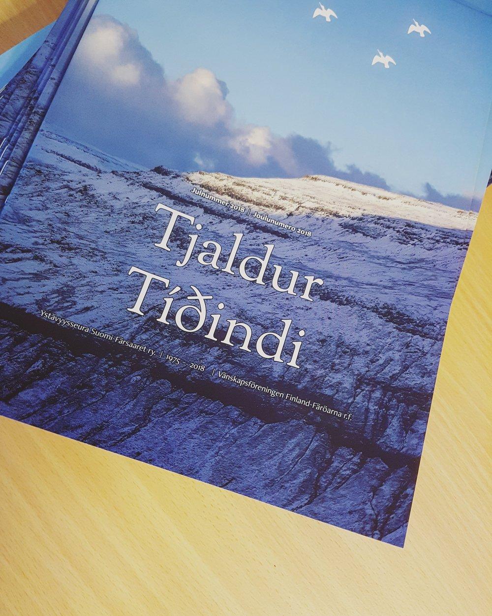 Tjaldur Tiðindi 2018 Graphic Design and Layout