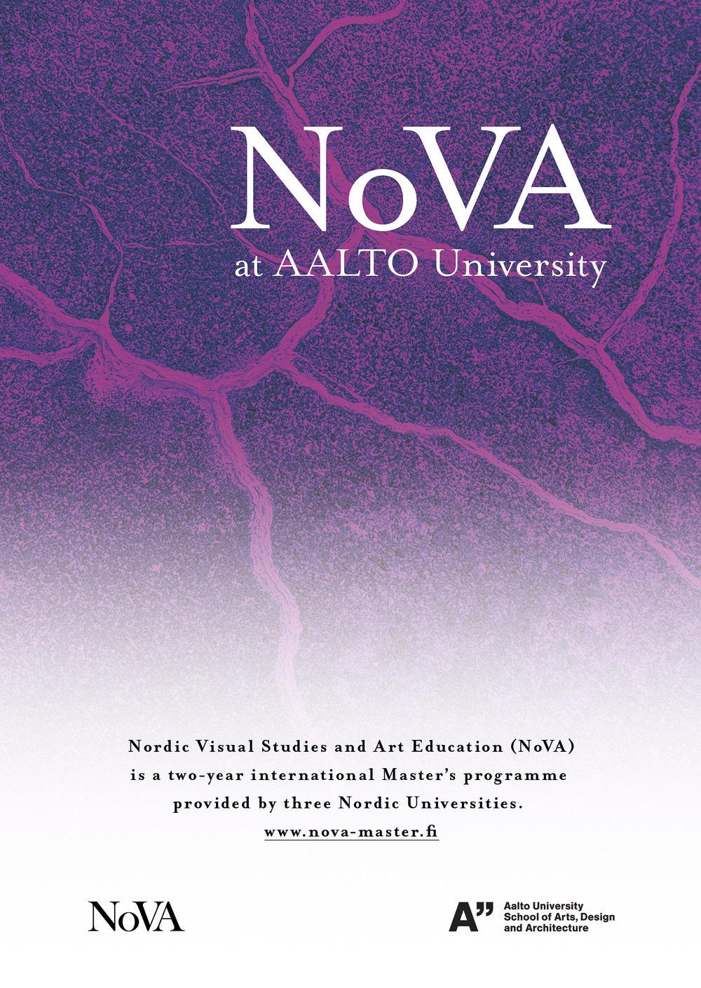 NoVA Programme Flyer, 2018