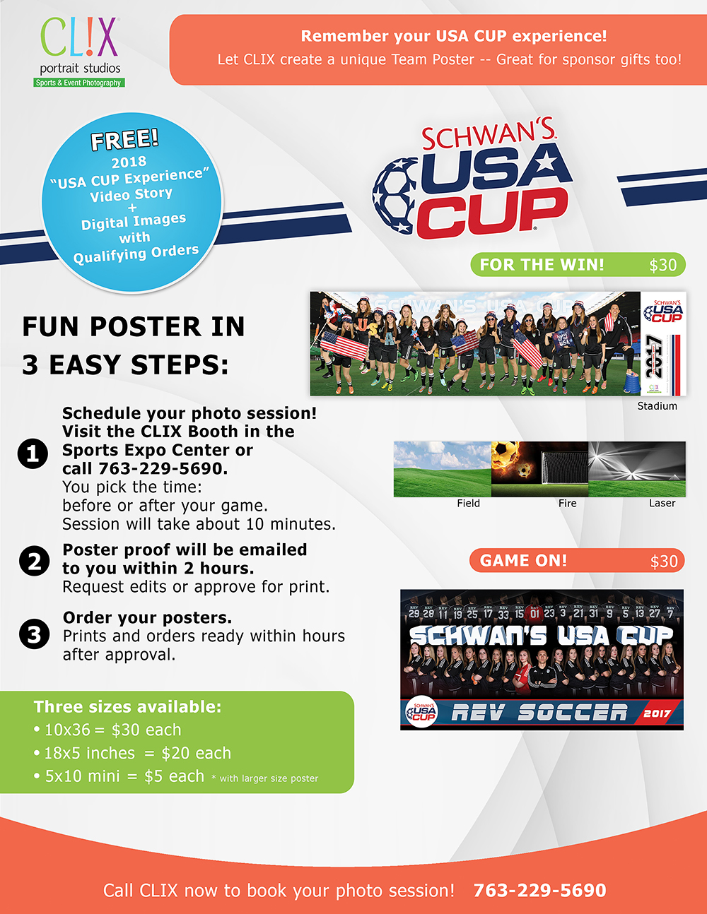 2018 USA Cup Poster Options