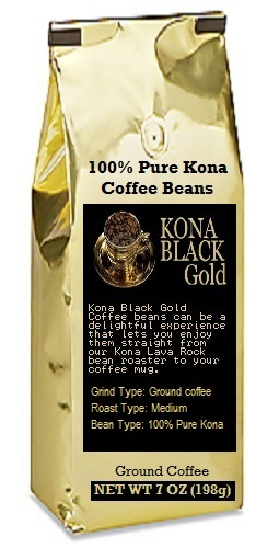 Kona ground coffee - Black Gold grounds