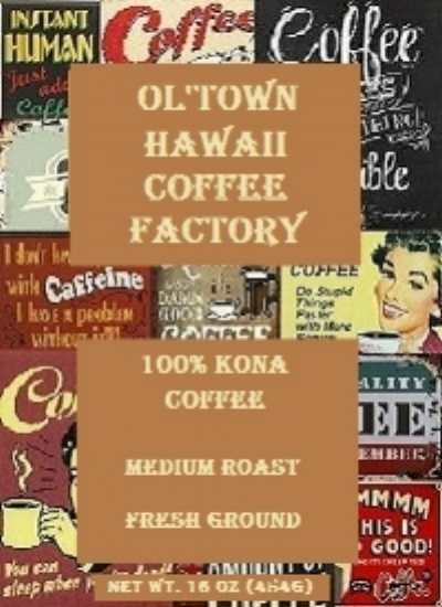 kona ground coffee - ol'town coffee grounds