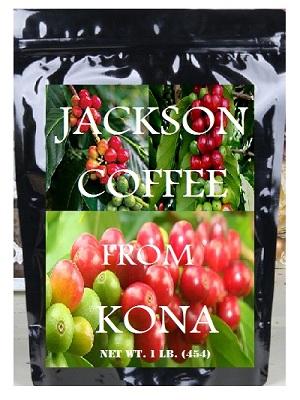 kona coffee beans - jackson 1 lb