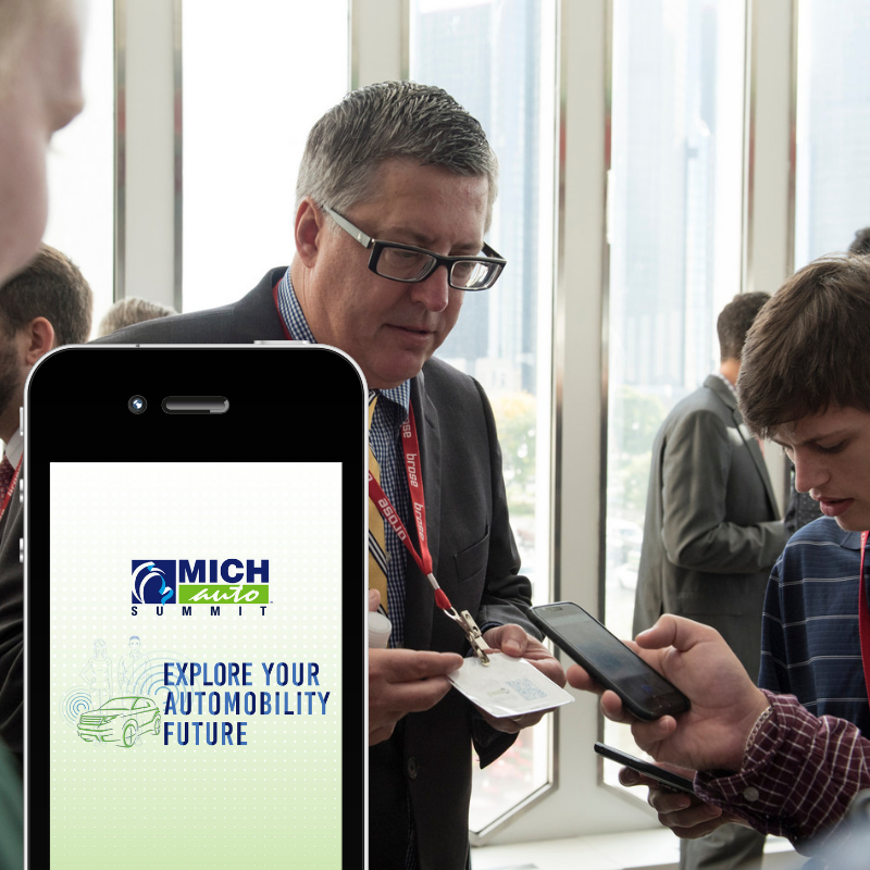 MICHauto Student Summit Mobile App - Gamified Networking, Comms Strategy