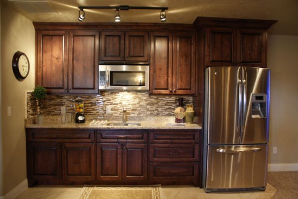 Serve up good food and style with a kitchen in your basement.