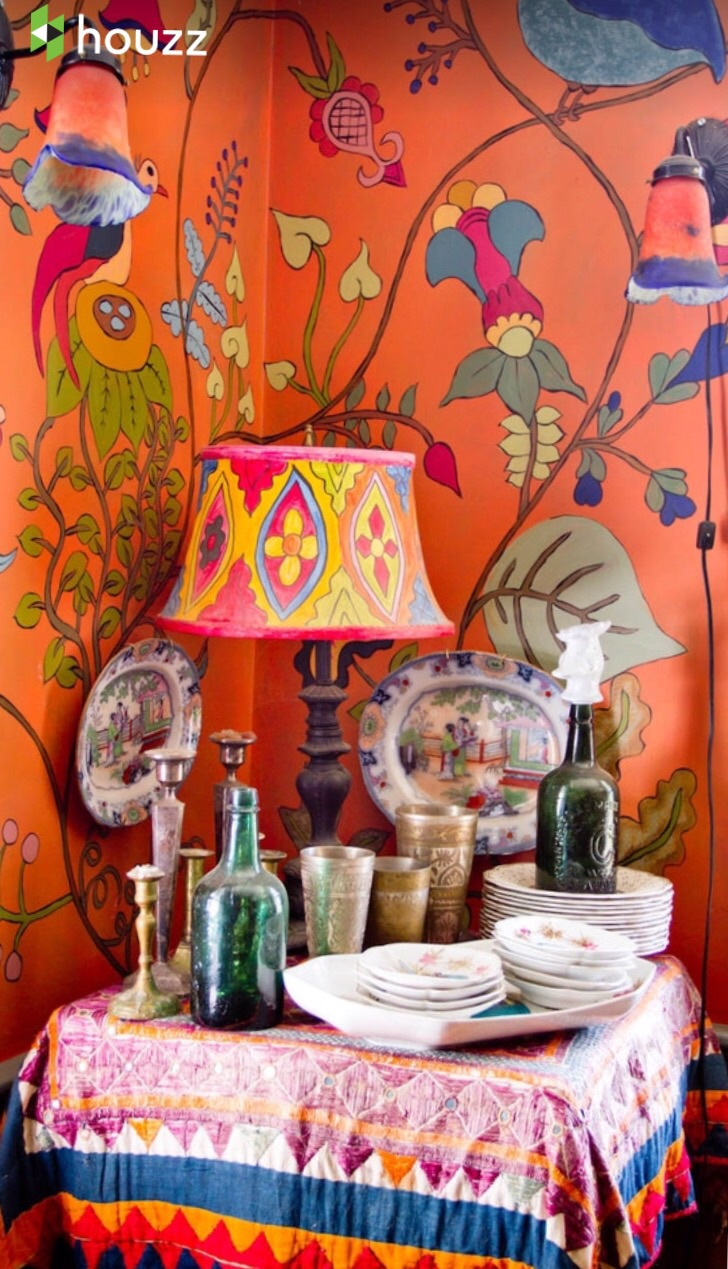 East Indian influence with vibrant colors.