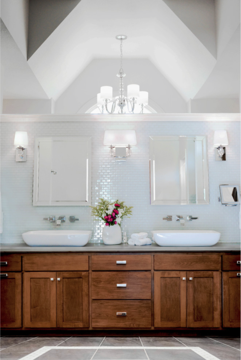 Our beautiful Cedar Creek Bathroom remodel in which we went with clean lines and white tile.