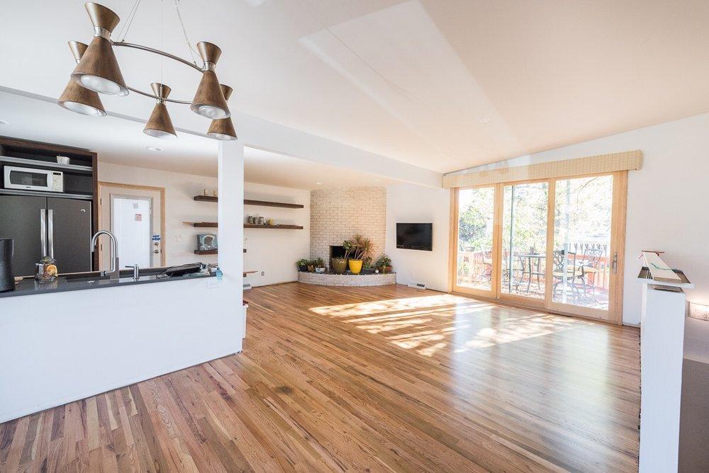 New doors open the space to outdoor living.