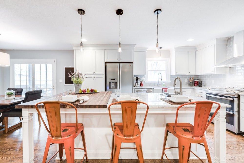 New warm yet clean style kitchen.