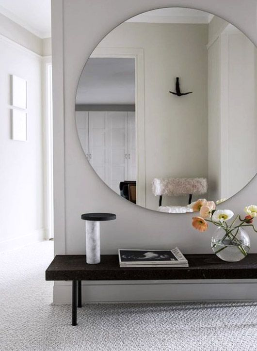 Add the illusion of space with mirrors.