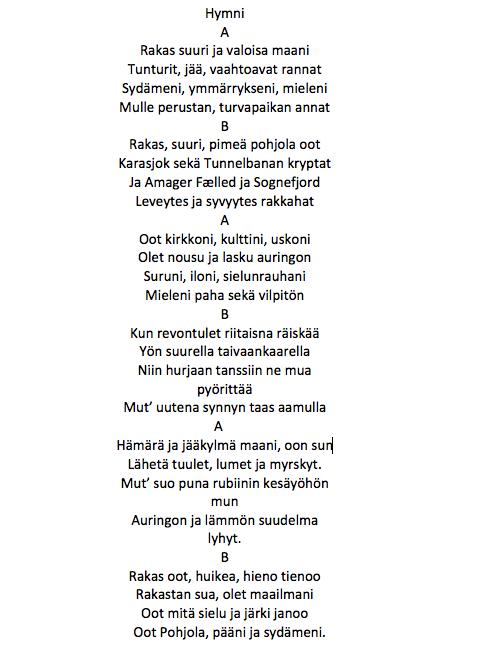 Finsk oversættelse // oversat af Pirkko Liisa Raudaskoski