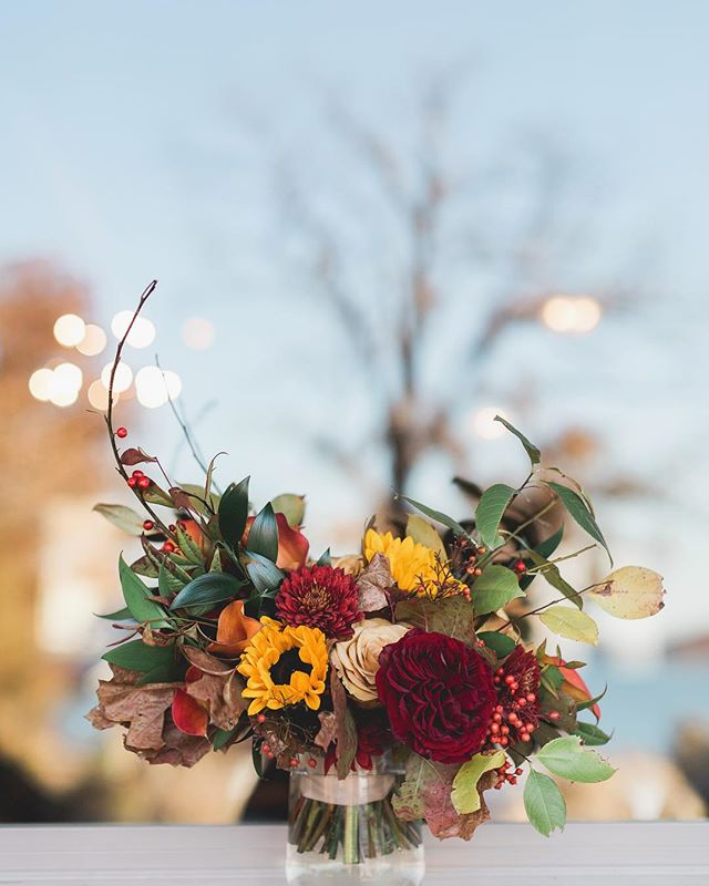 Yummy fall flowers as usual @crookedrootsdesign! A mix of fall and winter all in one 🍂❄️