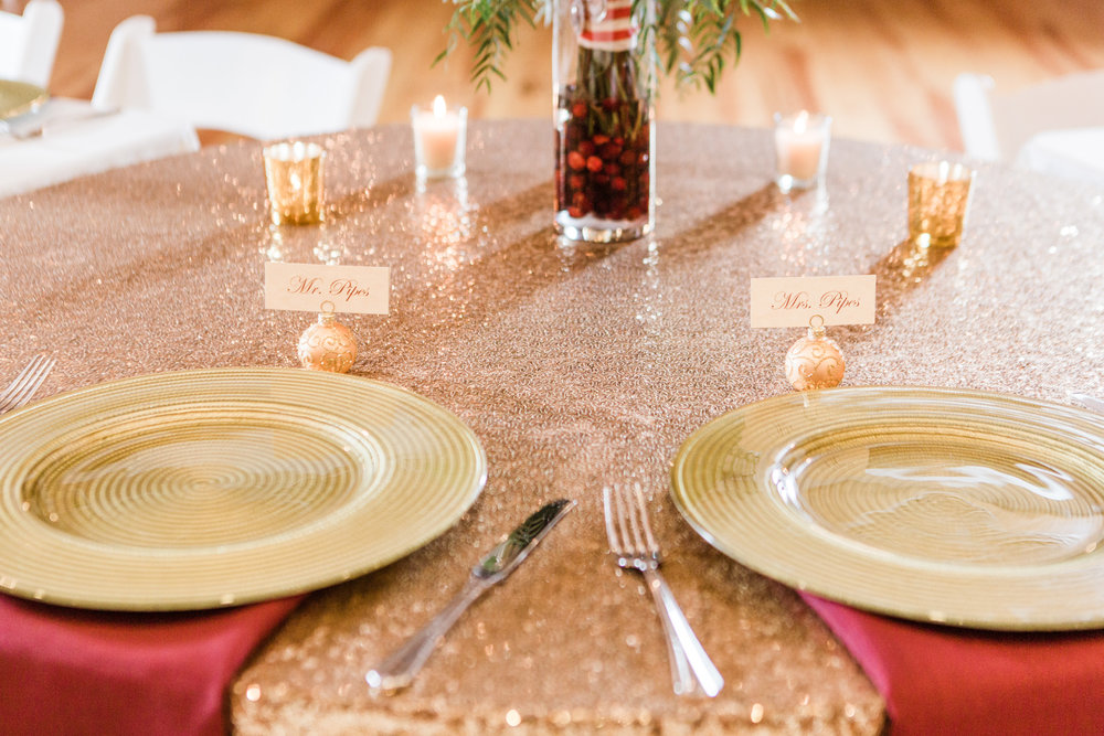 Christmas themed tablescape