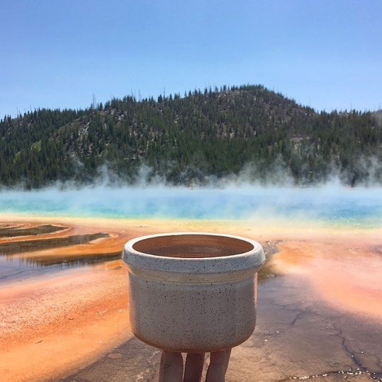 throwback to Grand Prismatic Spring 🌈 ✨