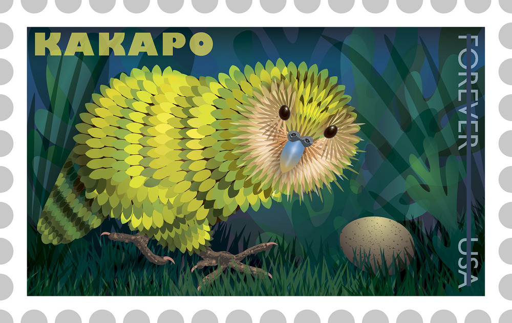 Kakapo Stamp