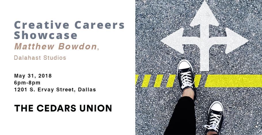 Creative Careers Showcase Matthew Bowdon FB banner.png