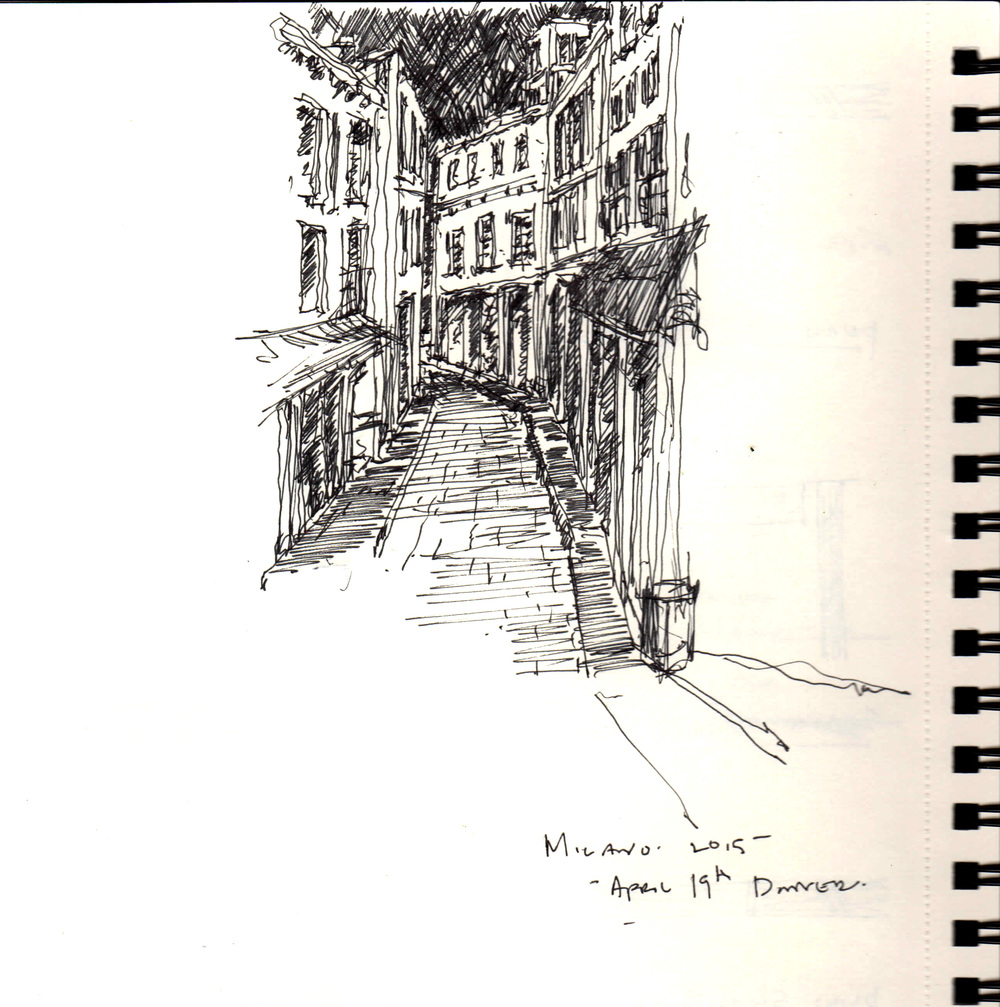 SKETCHING WITH A GLASS OF CHIANTI IN HAND (OTHER HAND)