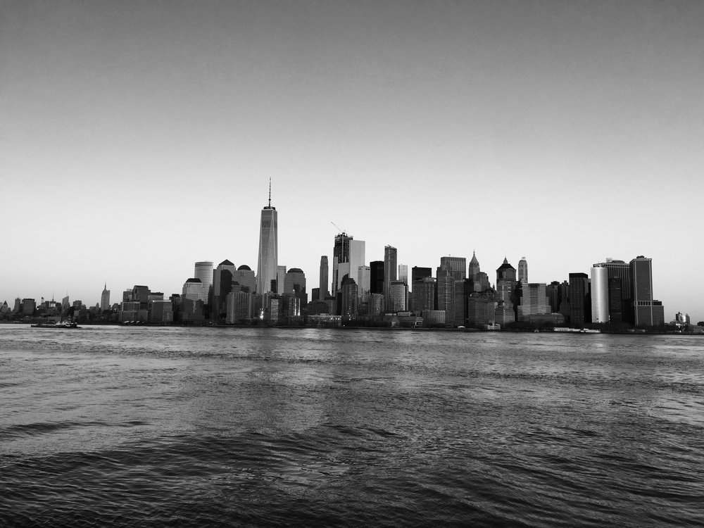 VIEW OF MANHATTAN FROM NEW JERSEY.